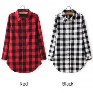 משובצת באדום שחור או שחור לבן