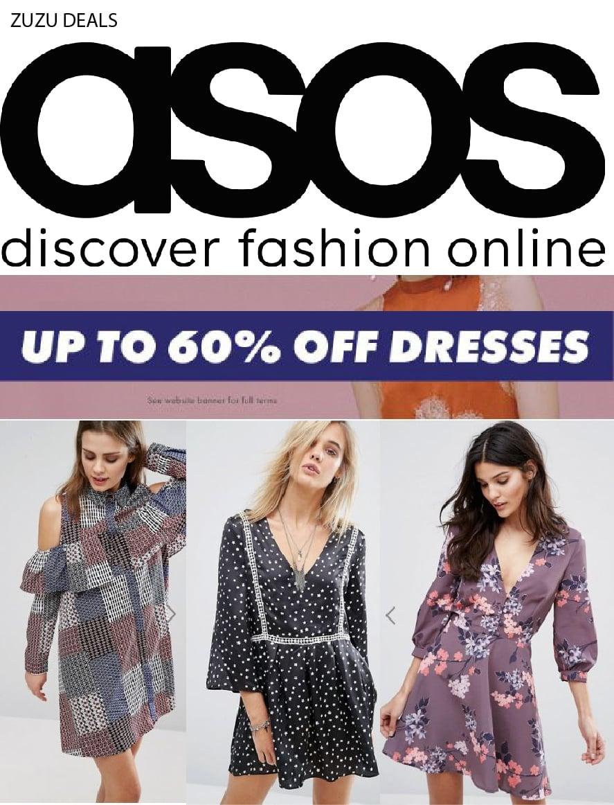עד 60% הנחה על שמלות בASOS