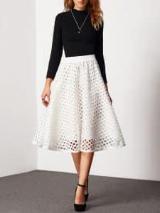 חצאית לבנה צנועה זול זוזו דילס