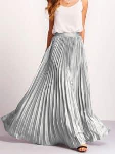 חצאית פליסה ארוכה צנועה זוזו דילס