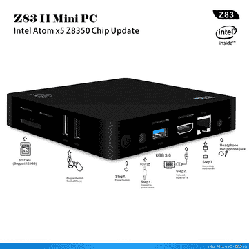 מיני PC רק 78$ בלבד! Z83 II  2GB+32GB