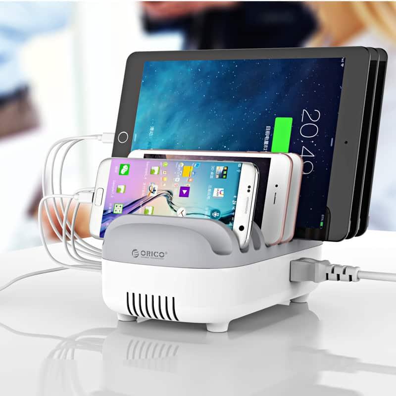 עמדת טעינה של ORICO – להטענה בו זמנית של 10 מכשירים! 49$