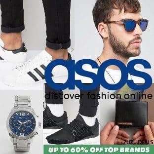 ASOS גברים! עד 60% הנחה על ביגוד ואביזרים של המותגים המובילים!