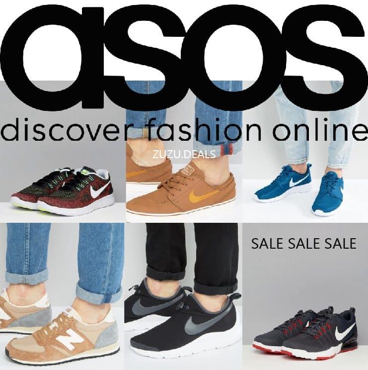 SALE בASOS   נעלי ספורט לגברים של המותגים המובילים במחירים משוגעים!