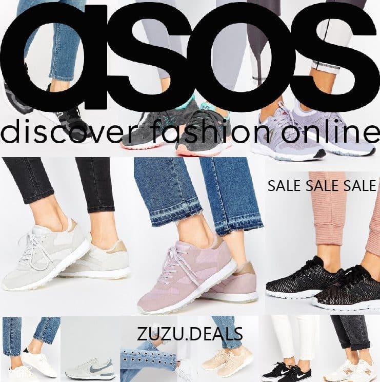 SALE בASOS   נעלי ספורט וסניקרס לנשים של המותגים המובילים במחירים מצחיקים!