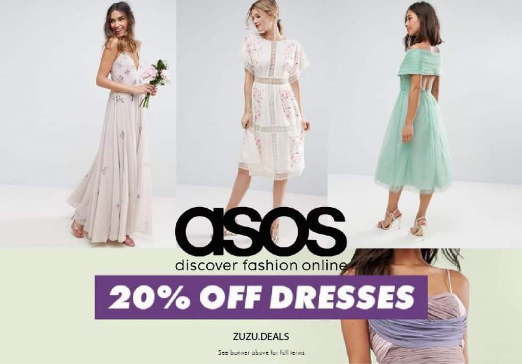 ASOS   אסוס 20% הנחה על השמלות באתר!