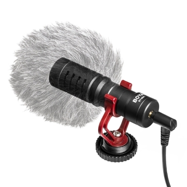 BOYA BY-MM1 – מיקרופון (קארדיואיד) – כולל: בום, מעמד בולם זעזועים, חיבורים ועוד – ב- 22.72 $ כולל משלוח!