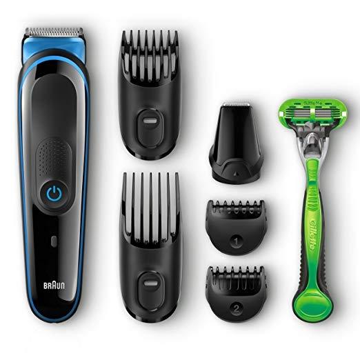 Braun MGK3040 -מכונת תספורת לזקן / שיער – ערכה מלאה – ב- 150 ₪, כולל משלוח! [ יותר מ- 80 ₪ חיסכון לעומת המחירים בארץ]