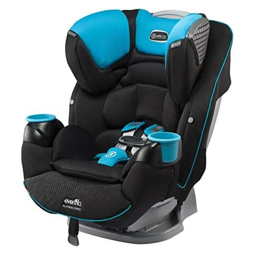 "Evenflo SafeMax Platinum – כיסא בטיחות מעולה – מאמזון! רק ב1,025 ש""ח עם משלוח ומיסים! בארץ מתחיל ב1615 ש""ח!"