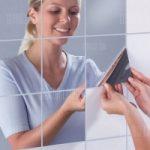 Reflective Mosaic Mirror Like Decorative Wall Stickers 9pcs