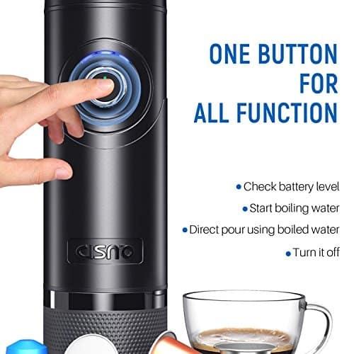 """חובבי הקפה זה בשיבלכם! דיל בזק! CISNO -מכונת אספרסו ניידת! גם מחמם מים! אספרסו מוכן תוך 15 שניות, 15 באר! עובד עם קספולות נספרסו! רק 122.13$ – 469 ש""""ח!"""