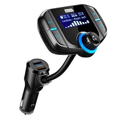 WAZA – משדר FM-בלוטות', עם דיבורית, מטען מהיר ועוד – רק 12.45$