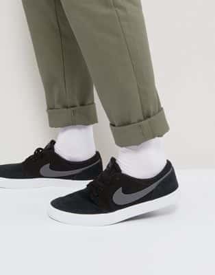 נעלי אלגנט –Nike SB Portmore Trainers –צבע שחור – ב-£36.00 !