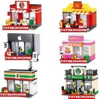 מתנה לילדים: דגמי תואם-לגו לבניה – חנות אפל / מקדונלדס / סטארבקס ועוד – החל מ-10.97 $ !