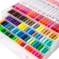 100 טושים כפולים (דו-ראשיים) – לצביעה / יצירה ואומנות – ב- 31.92 $ !