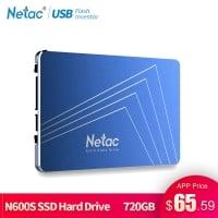 "Netac SSD 720GB רק ב63.99$ = כ233 ש""ח!"
