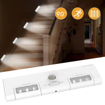 מנורת LED שימושית עם חיישן תנועה, למחסן, לארון ולמסדרון – רק 4.11$!