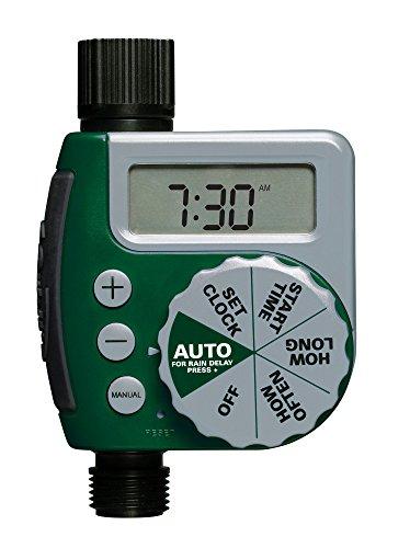 Orbit 62061Z 1-Outlet Programmable Hose Faucet Timer, Green : Hose Timer : Garden & Outdoor