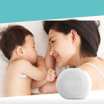 חדש משיאומי! Xiaomi Fanmi – מדחום אלחוטי לתינוקות – מדידה רציפה + התראה באור וקול! רק 29.99$