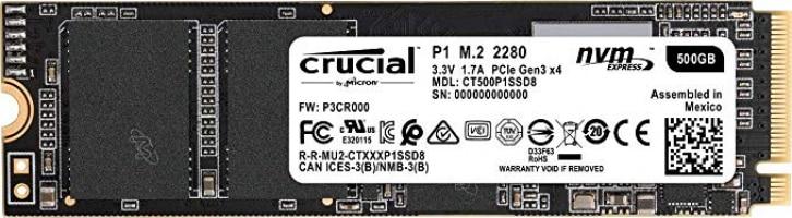 """כונן Crucial 500GB NVMe M.2 SSD הכי זול שהיה! רק 245 ש""""ח עד הבית!"""