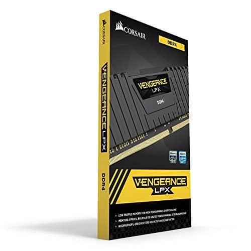 Corsair Vengeance LPX 16GB (2x8GB) DDR4 DRAM 2666MHz (PC4 21300) C16 Desktop Memory Kit – Black (CMK16GX4M2A2666C16) at