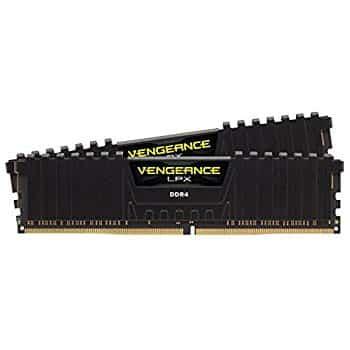 Corsair Vengeance LPX 16GB (2x8GB) DDR4 DRAM 2666MHz (PC4 21300) C16 Desktop Memory Kit – Black (CMK16GX4M2A2666C16) at Amazon.com