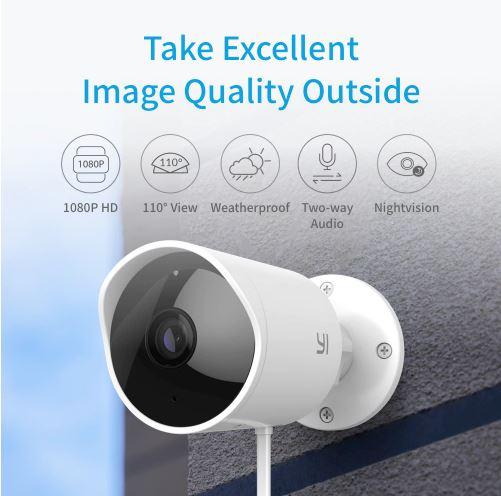 YI 1080p Outdoor Security IP Camera | מצלמת האבטחה של שיאומי ב₪217 בלבד!