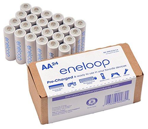 """סט 24 סוללות נטענות מומלצות במיוחד – Panasonic eneloop AA 2100 ללא מכס! רק 263 ש""""ח עד הבית!"""