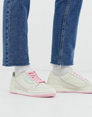 adidas Originals Continental 80 לבן וורוד – רק 165₪ ומשלוח חינם!