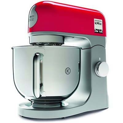 """המיקסר הפופלארי – Kenwood KMX750 עם 1000W, 5 ליטר רק ב840 ש""""ח!!! לבן/אדום"""