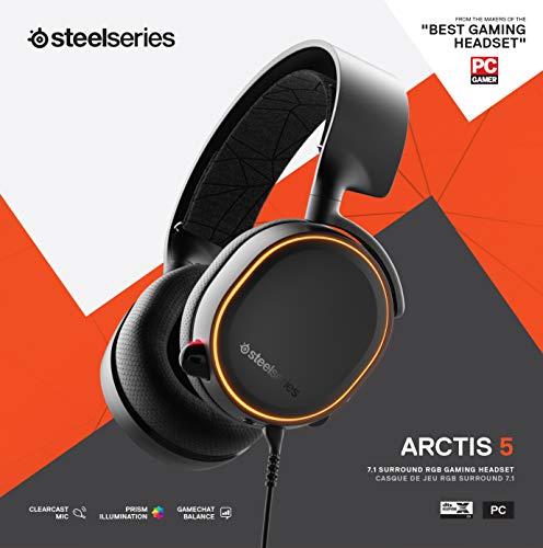 "SteelSeries Arctis 5 – דגם 2019 – אוזניות הגיימינג המומלצות ביותר לPS4/PC/XBOX – עם DTS:X V2.0 רק ב289 ש""ח עד הבית!"