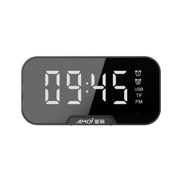 AMOI רמקול בלוטות' אלחוטי, שעון מעורר ורדיו במכשיר אחד קטן, קל ונייד! ₪35 בלבד! משלוח חינם!