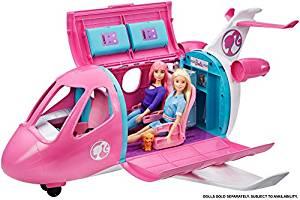 Barbie מטוס ענק וקראוון קמפינג חלומי ענק מבית ברבי מטאל במבצע