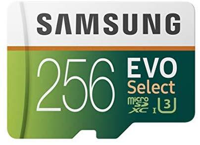 כרטיס הזיכרון הכי מומלץ Samsung EVO Select נפח 256GB בצניחת מחיר!