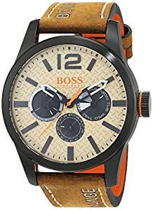 """שעון עור של Hugo BOSS ב-235 ש""""ח בלבד!"""