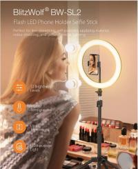יוטיוב? טיק טוק? BlitzWolf® BW-SL2 – חצובה לסמארטפון עם תאורת LED מובנית! רק ב39.99$!