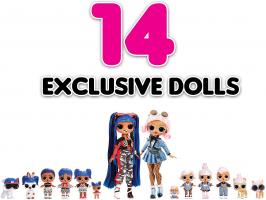 L.O.L. Amazing Surprise! מארז ענק ומטורף! 14 בובות לול ייחודיות + 70 הפתעות ב₪545 עד הבית!