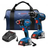 """סט קומבו – מברגת אימפקט + מקדחה Bosch GXL18V-232B22 18V סדרה כחולה, 2 סוללות, מטען ותיק רק ב797 ש""""ח"""