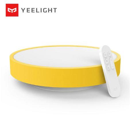 Yeelight Smart Ceiling Light – המנורה החכמה שכולם אוהבים – גרסאת הילדים (צהוב/כחול) במחיר מדהים! רק 48.57$