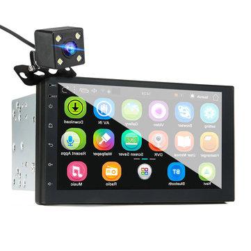 """מערכת אנדרואיד לרכב עם מסך 7 אינטש, מצלמת רוורס, GPS מובנה, WIFI ובלוטות'! רק ב167 ש""""ח!"""