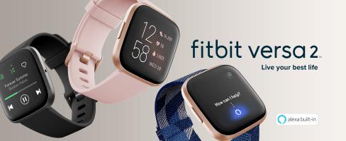 """צלילת מחיר! Fitbit Versa 2 – שעון ספורט חכם במחיר בלאק פריידי! מגוון צבעים בהנחה מדהימה! רק 628 שח (בארץ הדגם הישן מתחיל ב699 ש""""ח!)"""