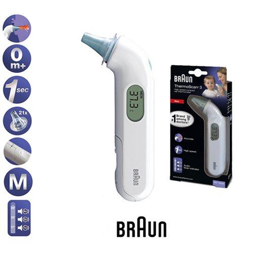 """מדחום אוזן דיגיטלי מהיר לאוזן מבית BRAUN רק ב99 ש""""ח ומשלוח חינם!"""