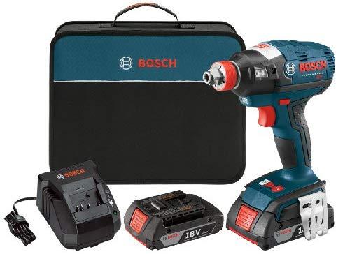 """קיט מברגת אימפקט עם מטען ו2 סוללות Bosch IDH182-02 18V רק ב409 ש""""ח!"""