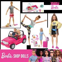 לקט Barbie ענק! בובות ואביזרים במחירים משוגעים ומשלוח חינם!