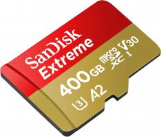 """כרטיס זיכרון SanDisk 400GB Extreme – ללא מכס! רק 260 ש""""ח ומשלוח חינם במקום 540 ש""""ח!"""