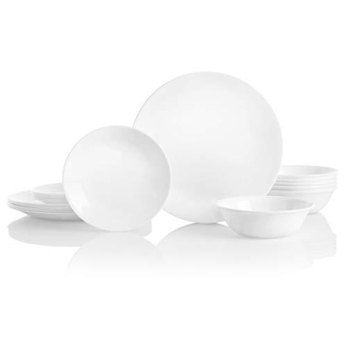 שוב במלאי – סט צלחות Corelle Winter Frost White במחיר מעולה ומשלוח חינם!