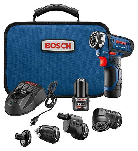 Bosch GSR 12V Flexiclick – מברגה/מקדחה 5 באחד! עם 5 ראשים מתחלפים!