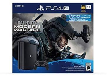 קונסולת משחק Sony PlayStation 4 PRO 1TB + משחק Call Of Duty: Modern Warfare