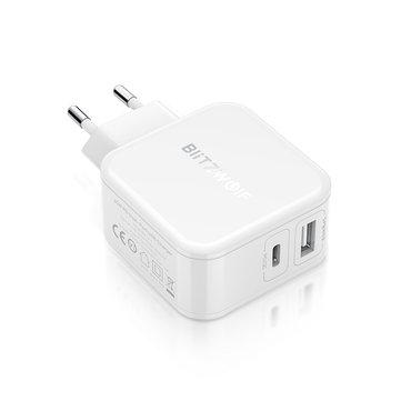 מטען מהיר איכותי ומומלץ  BlitzWolf® BW-S11 30W Type-C PD/QC3.0+2.4A כולל כבל USB-C לUSBC במתנה רק ב9.29$!