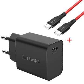 לחטוף! המטען המהיר הכי מומלץ! BlitzWolf® BW-S12 בגרסא החדשה – עכשיו גם עם USB-PD וQC4.0+ עם כבל USB-C לUSB-C איכותי רק ב11.99$!